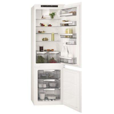 -  253 l   (192l + 61l)  réfrigérateur  froid  brassé /  Réfrigérateur/Congél. AEG SCE81816TS