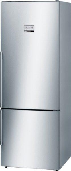 Le réfrigérateur combiné xxl avec vitafresh pro et une  Réfrigérateur/Congél. BOSCH KGF56PI40 blanc/inox/silver