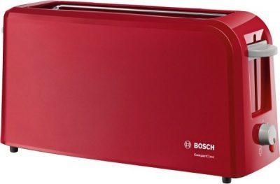 Grille-pain compact classique 1 fente -   rouge - support  Petit déjeuner BOSCH TAT3A004