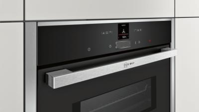 N 70, Four intégrable compact avec fonction micro-ondes, 60 x 45 cm, Inox C17MR02N0