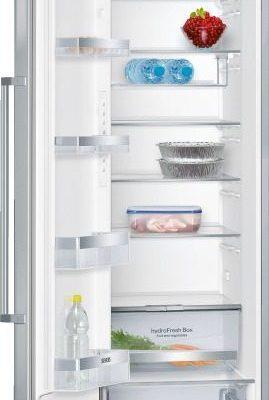 Prémium - intérieur avec finition métal  - portes inox  Réfrigérateur. SIEMENS KS36VAI3P inox/silver