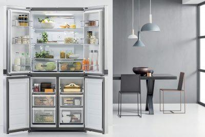 Réfrigérateur 4 portes 591 l  - technologie  6è sens - inox  Réfrigérateur/Congél. WHIRLPOOL WQ9E1L