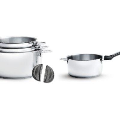 de Buyer LOT de 4 casseroles Twisty +1 Q amovible + 1 paire de clips