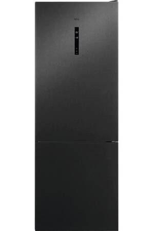 réfrigérateur combiné black stainless, hauteur 192cm, a++, No frost