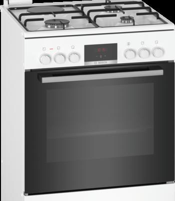 Cuisinière indépendante à gaz et four électrique, Blanc HXR39IG20