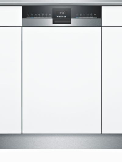 iQ300, Lave-vaisselle intégrable avec bandeau, 45 cm, Metallic SR53HS76ME