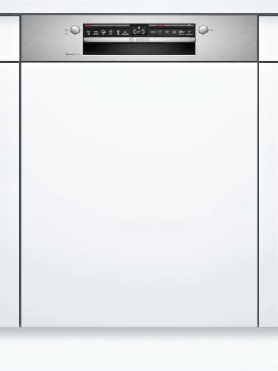 Série 4, Lave-vaisselle intégrable avec bandeau, 60 cm, Metallic Bosch SMI4HTS35E