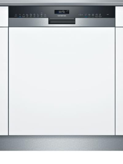 iQ500, Lave-vaisselle intégrable avec bandeau, 60 cm, Metallic SN55ZS40CE