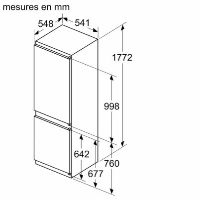 13306131 KIV86NSF0 Standard Line Drawing fr FR 1