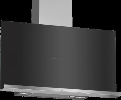 N 70, Hotte murale, 90 cm, Noir avec finition en verre D95FRM1S0