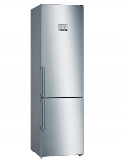 Série 6, Réfrigérateur combiné pose-libre, 204 x 60 cm, Inox anti trace de doigts KGN39HIEP