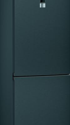 iQ300, Réfrigérateur combiné pose-libre, 186 x 60 cm, Acier inox noir KG36N7XEA