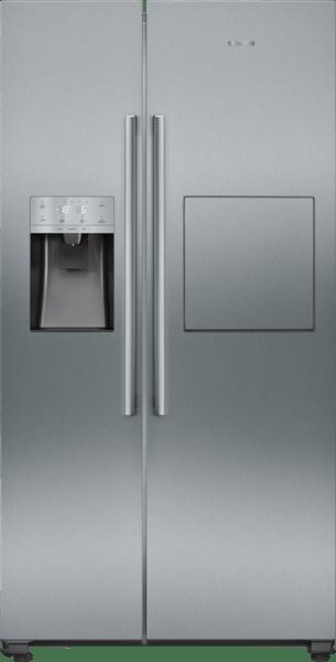 Réfrigérateur Side by Side avec la technologie noFrost pour éviter le dégivrage, distributeur d'eau et de glace et un compartiment spécial pour les boissons KA93GAIEP