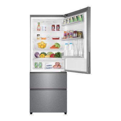 Refrigerateur combine largeur 70cm avec tiroir de congelation a acces direct HAIER A4FE742CPJ ouv