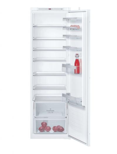 Le réfrigérateur intégrable avec éclairage LED permet une conservation idéale de vos fruits et légumes.