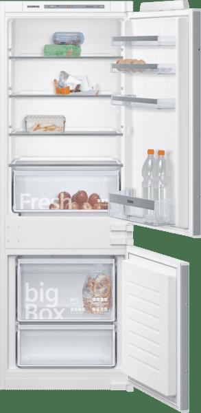 Réfrigérateur intégrable avec compartiment pour conserver les fruits et légumes frais plus longtemps grâce à la freshBox avec fond ondulé